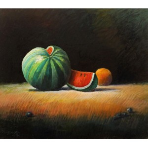 Maqsood Ahmad, 16 x 18 inch, Oil on Board, Still life Painting-AC-MQA-009